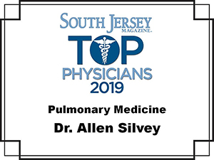 Dr. Allen L. Silvey, Jr. - DO. Voted South Jersey magazine Top Doc 2019 for pulmonary medicine
